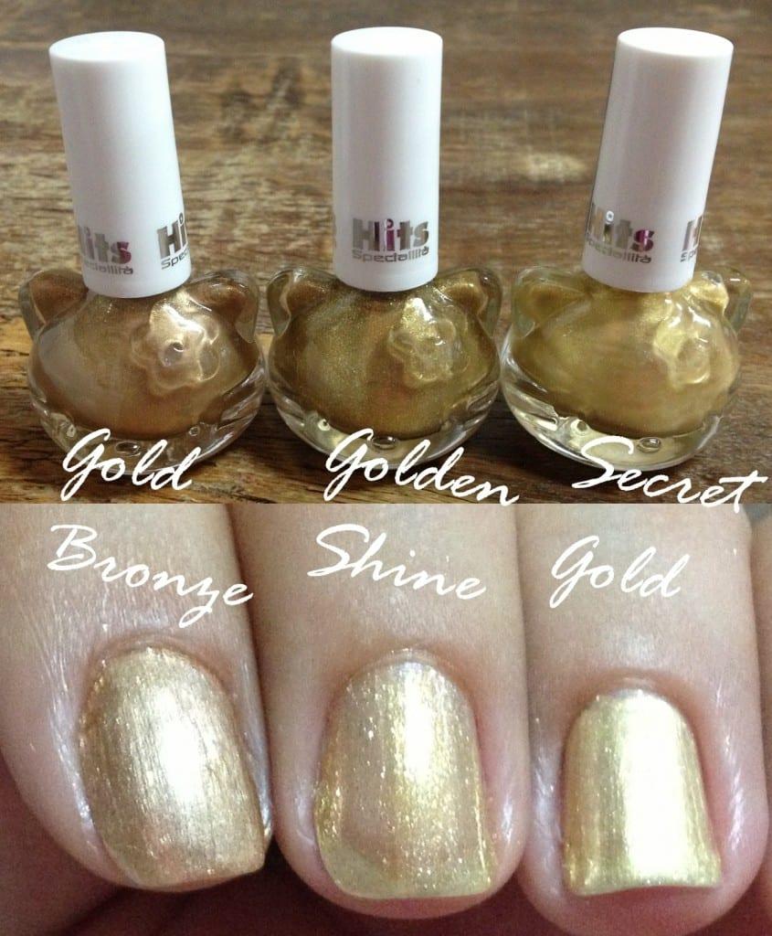 Esmaltes Hello Kitty Dourado 845x1024 Hello Kitty dourada nas suas unhas!