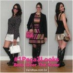 ‪#‎1Peça3Looks‬: Bota Over the Knee!
