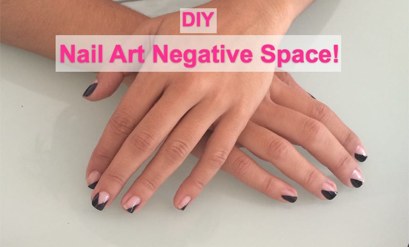 Nail Art Atena Negative Space