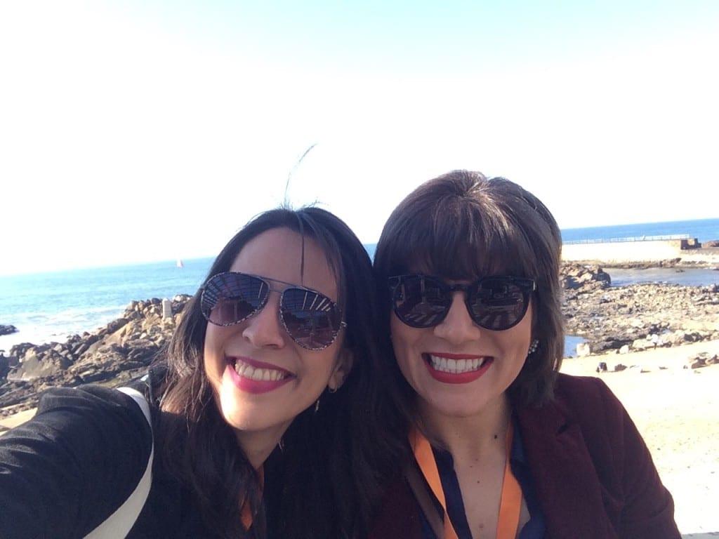 Eu e Naiara na beira da Foz do Porto!