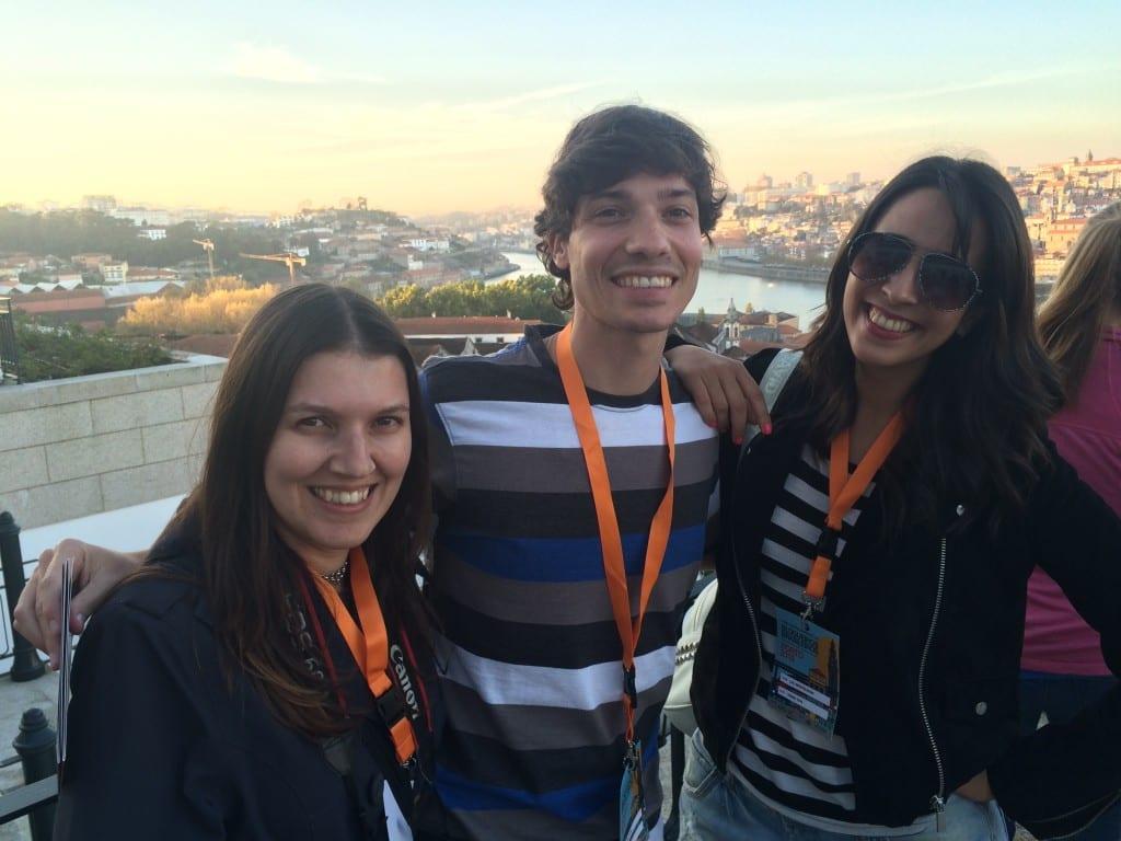 """Priscila, Rafael e eu, os """"lisboetas""""! rs"""