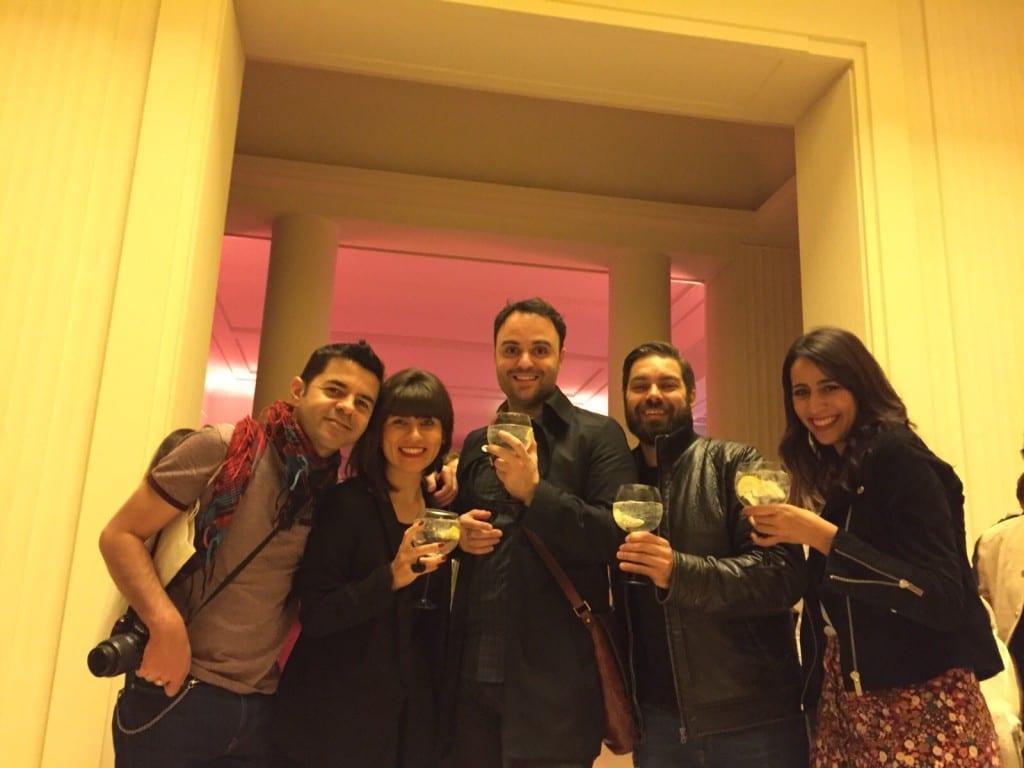 Pedro, Naiara, Daniel, Ivo e euzinha no jantar na Fundação Serralves!