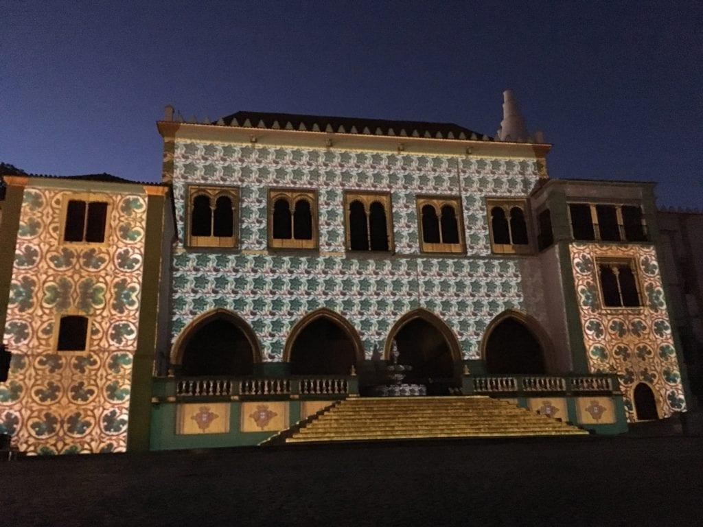 Palácio Nacional de Sintra durante o Aura Festival