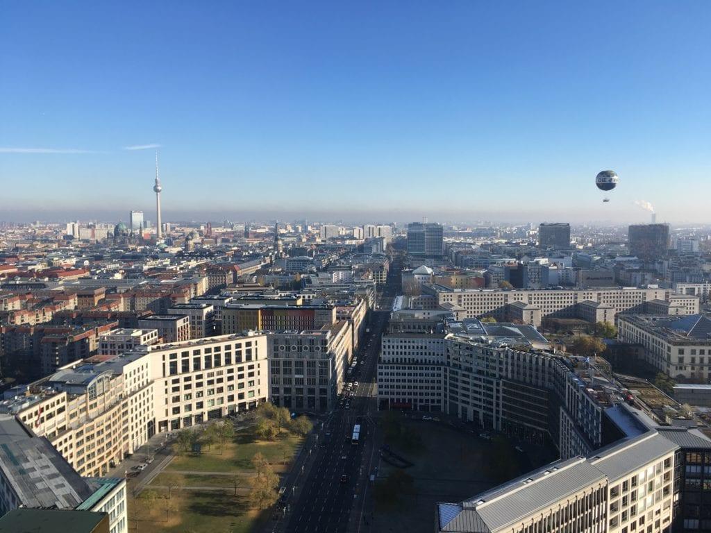 Berlim vista de cima: Panoramapunkt