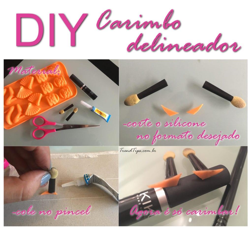 DIY Carimbo Delineador - Como fazer