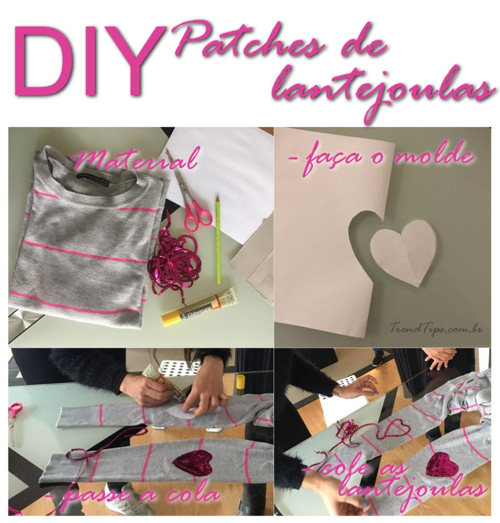 DIY Patches de Lantejoulas