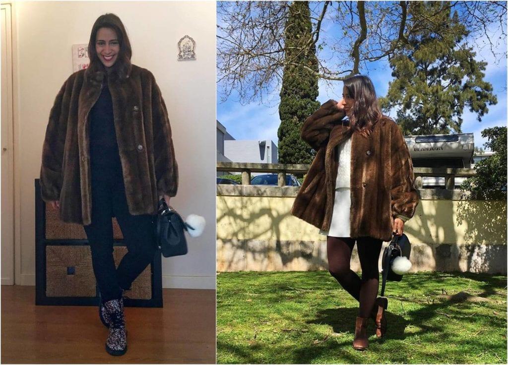 como usar casaco de pele