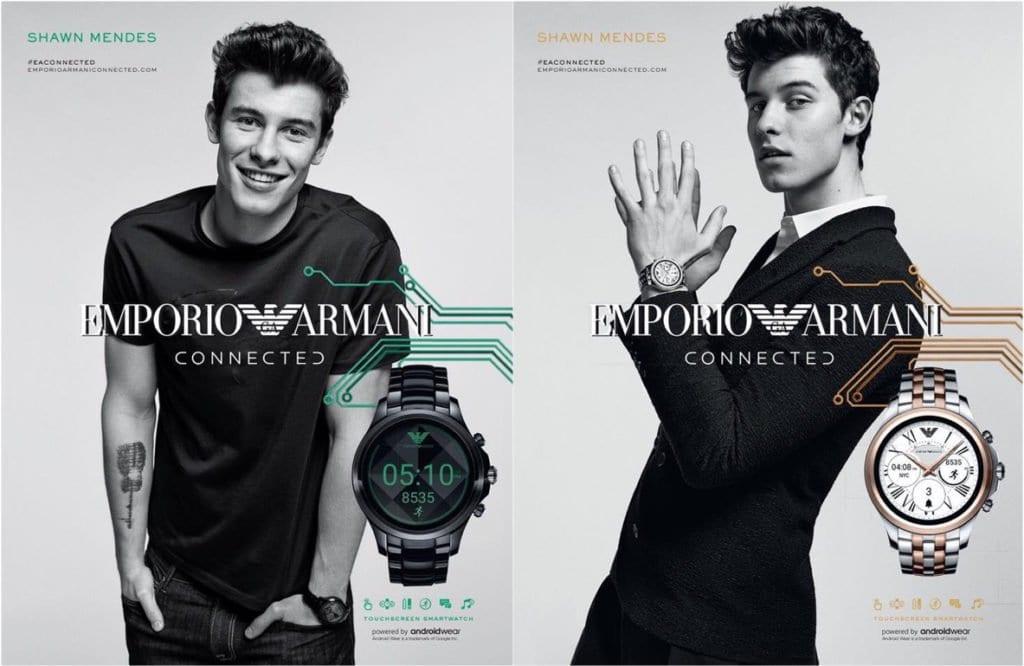 Smartwatch Emporio Armani com Shawn Mendes