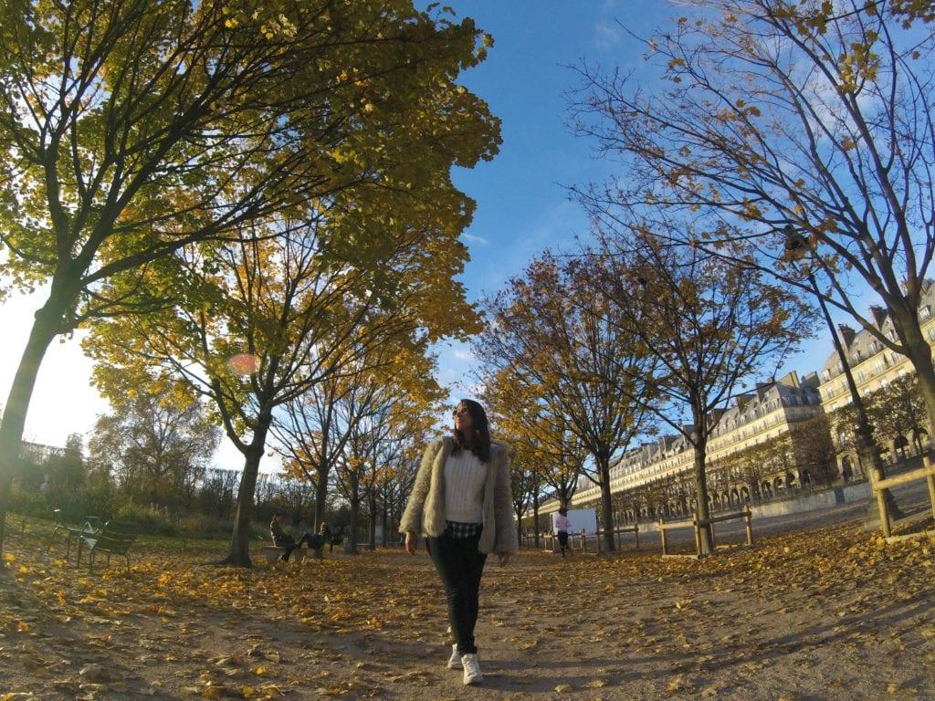 Jardins da Tuileries em Paris