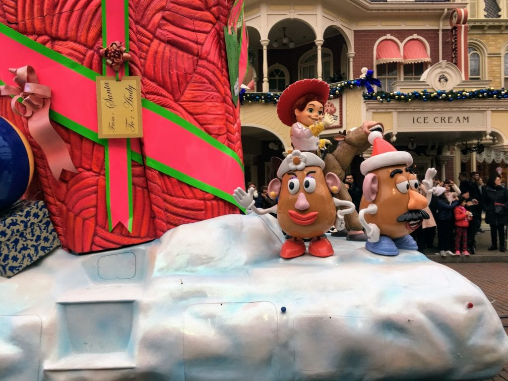 Toy Story no Natal na Disney Paris