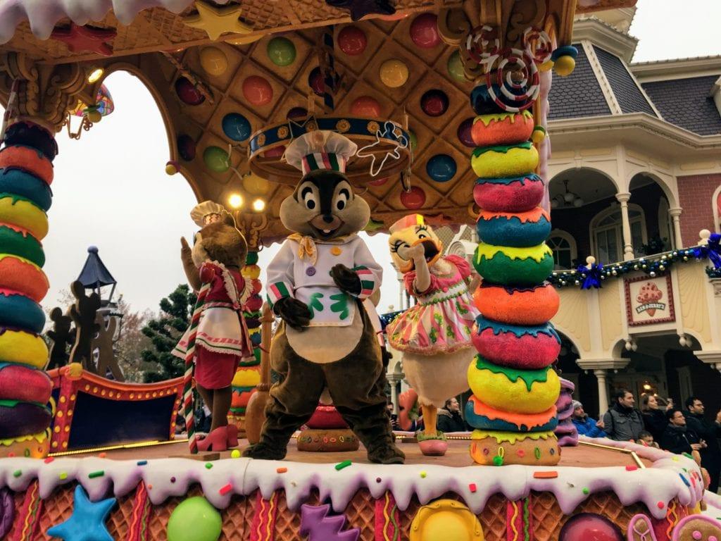 Parada de Natal na Disney Paris