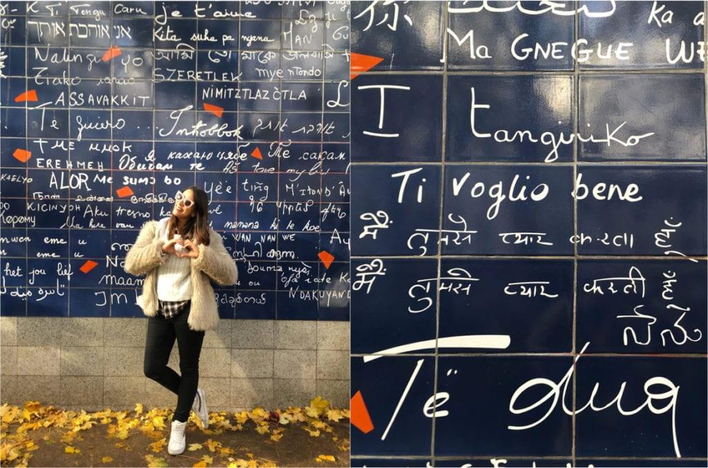 """Muro """"eu Te Amo"""" em Paris"""