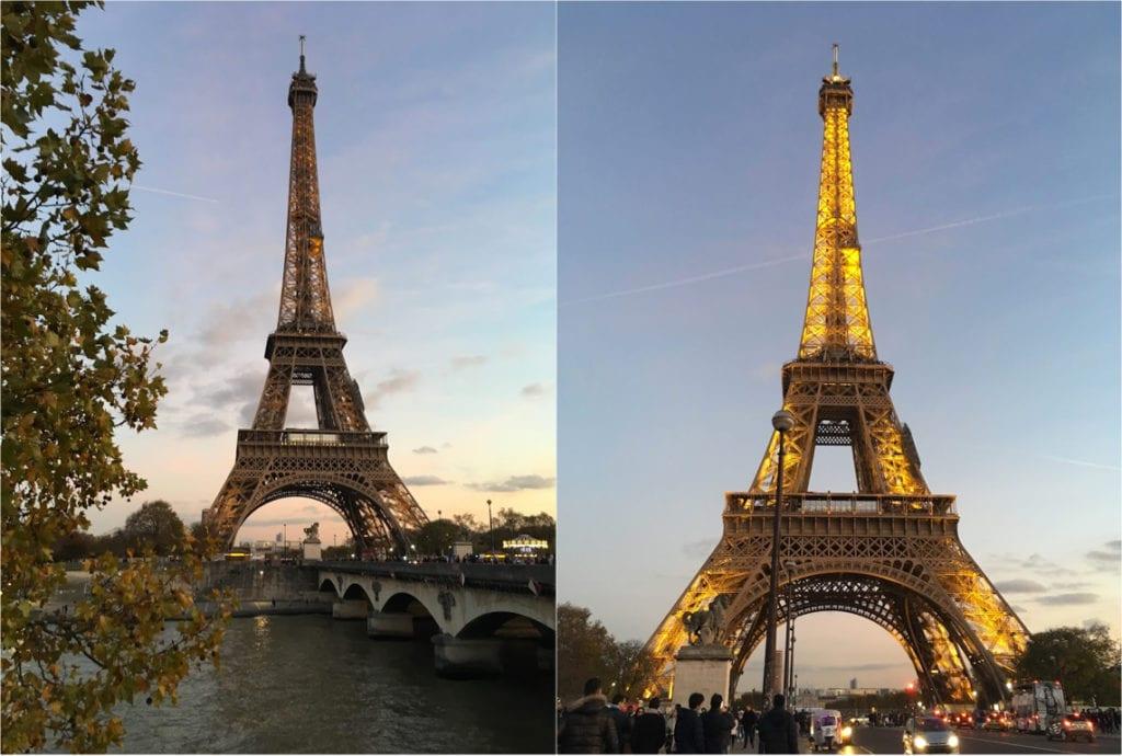 Por do sol na Torre Eiffel, Paris