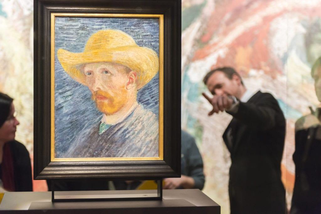 Um dos muitos auto-retratos de Van Gogh expostos no museu! | Foto: Jan Kees Steenman