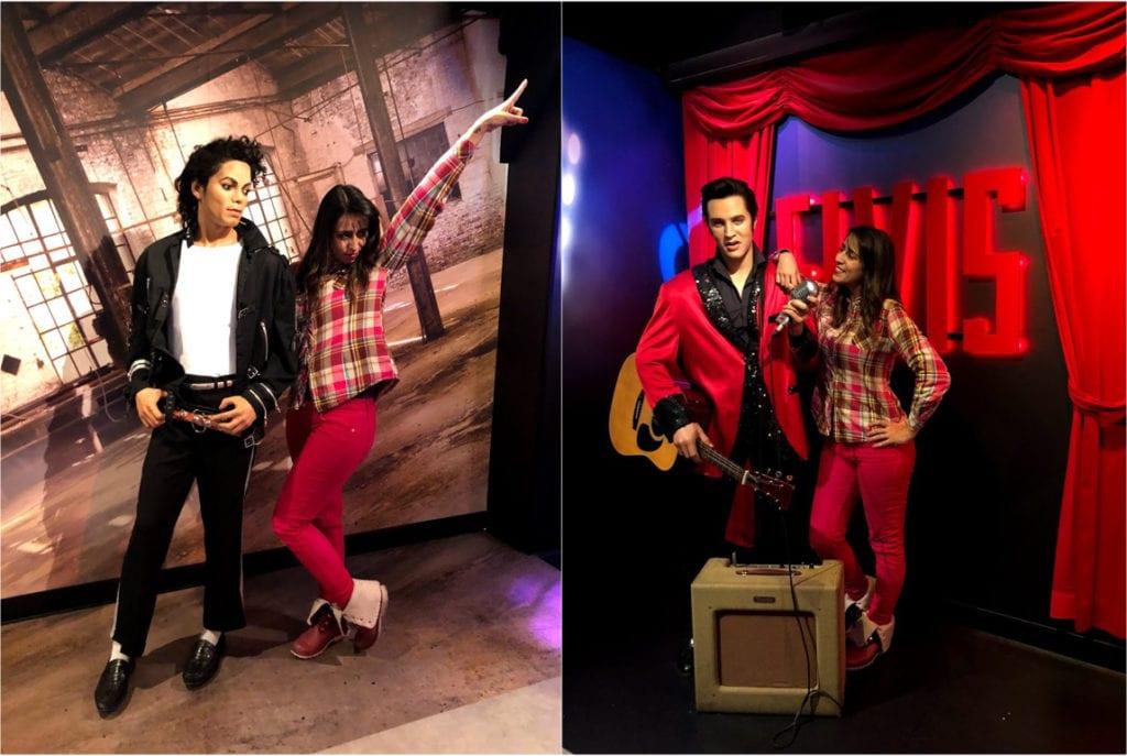 Michael Jackson e Elvis no Madame Tussauds Amsterdam