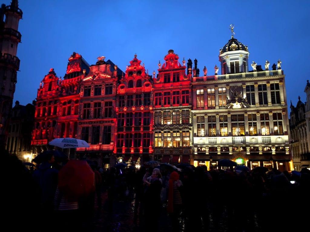Grand Place, Bruxelas, no Natal