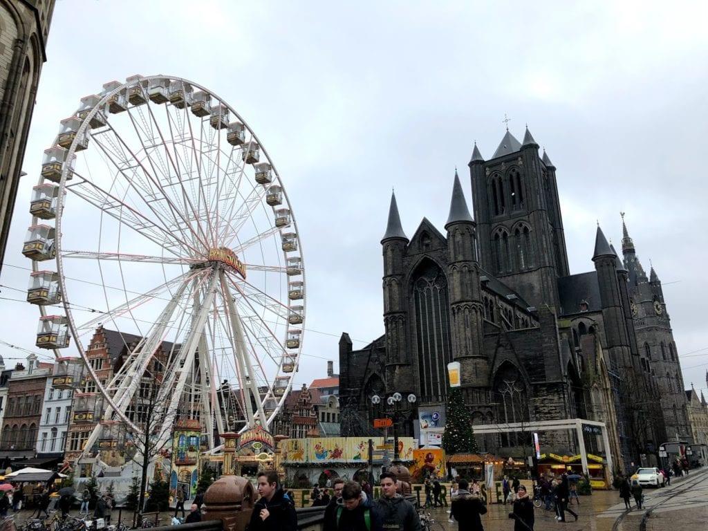 Mercado de Natal em Gent na Bélgica