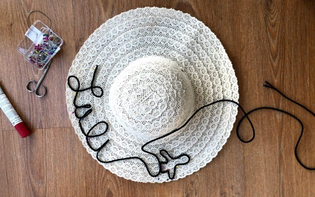 Como fazer chapéu de praia com nome