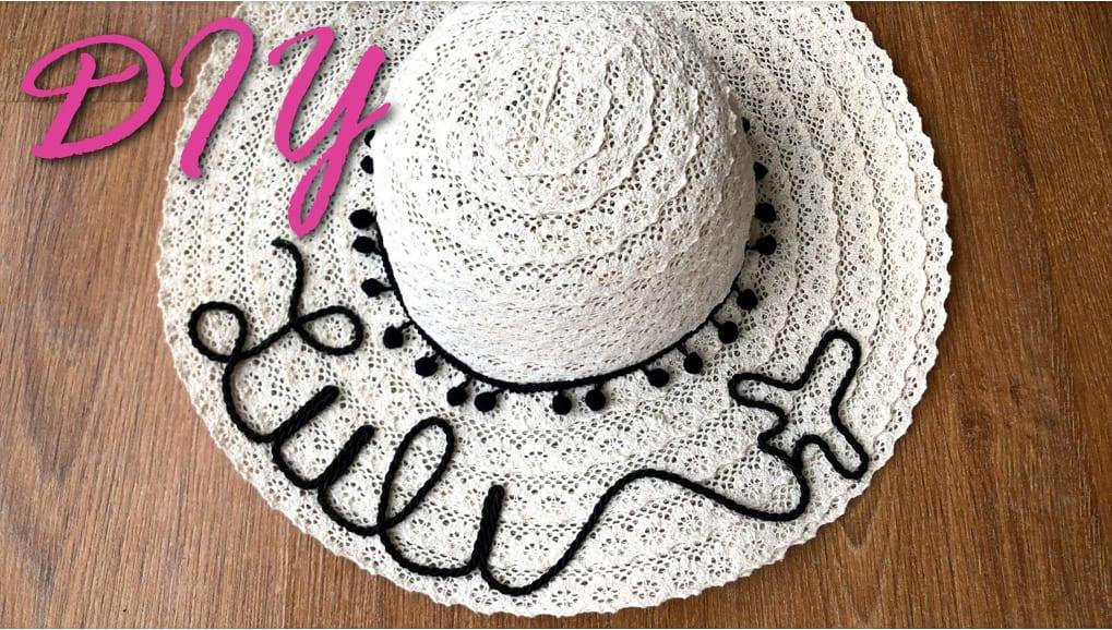Como fazer chapéu com nome