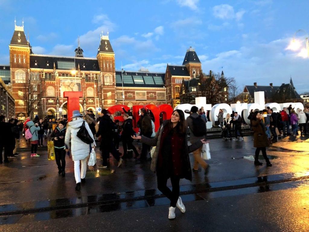 Letreiro Iamsterdam - Amsterdam