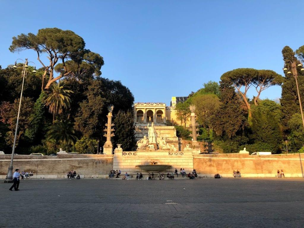 Terraza del Pincio, Villa Borghese, Roma