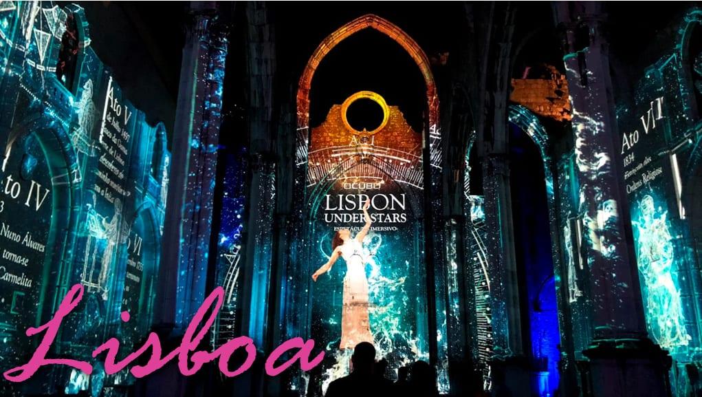 Video Mapping Lisbon Under Stars