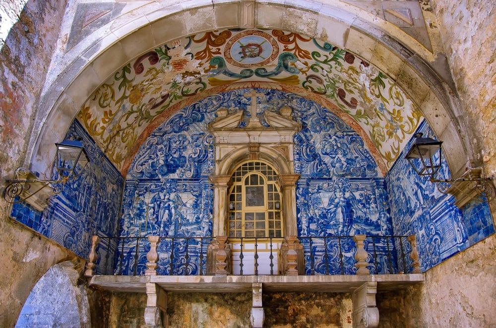 Azulejos portugueses em Óbidos, Portugal