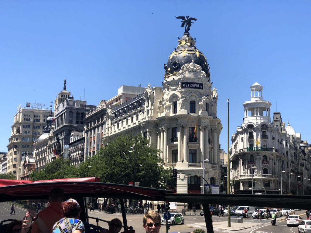Ônibus turístico em Madrid
