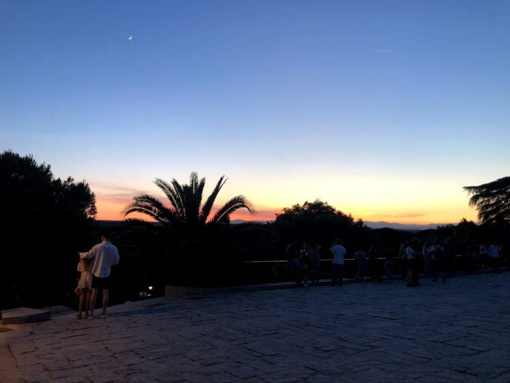 Por do sol em Madrid