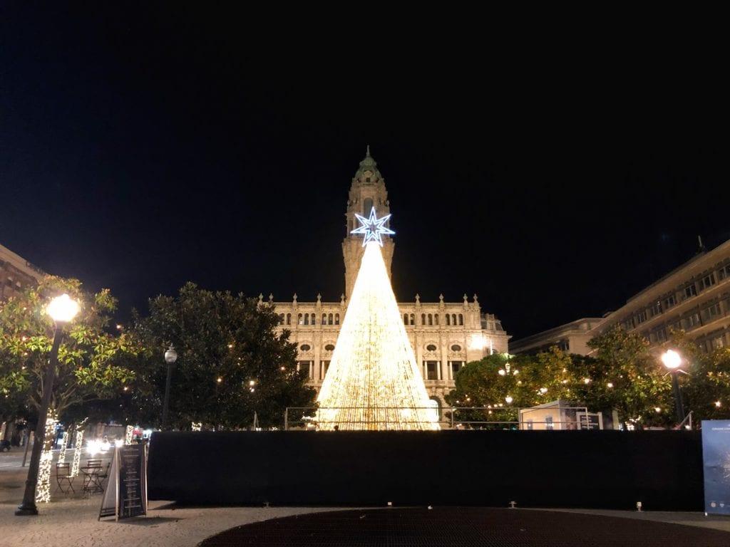 Luzes de Natal no Porto, Portugal: Aliados