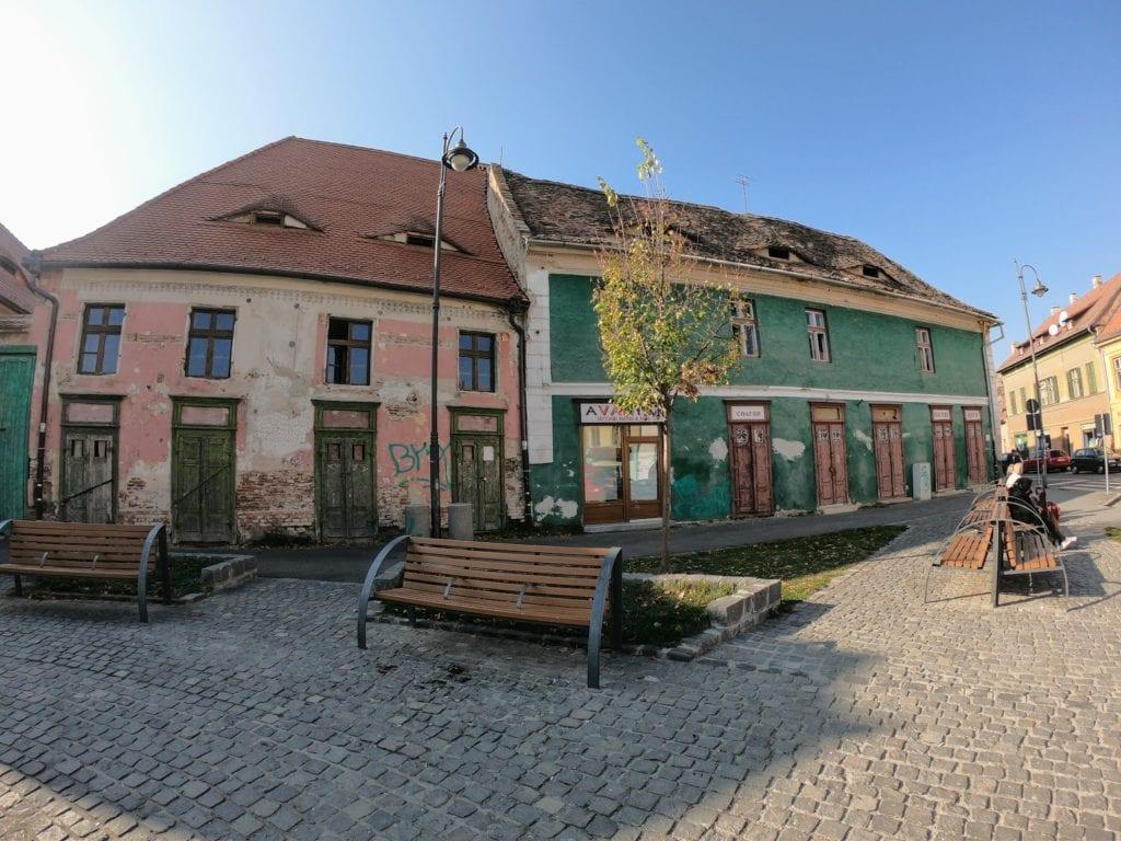 Casas com olhos em Sibiu, Transilvânia, romênia