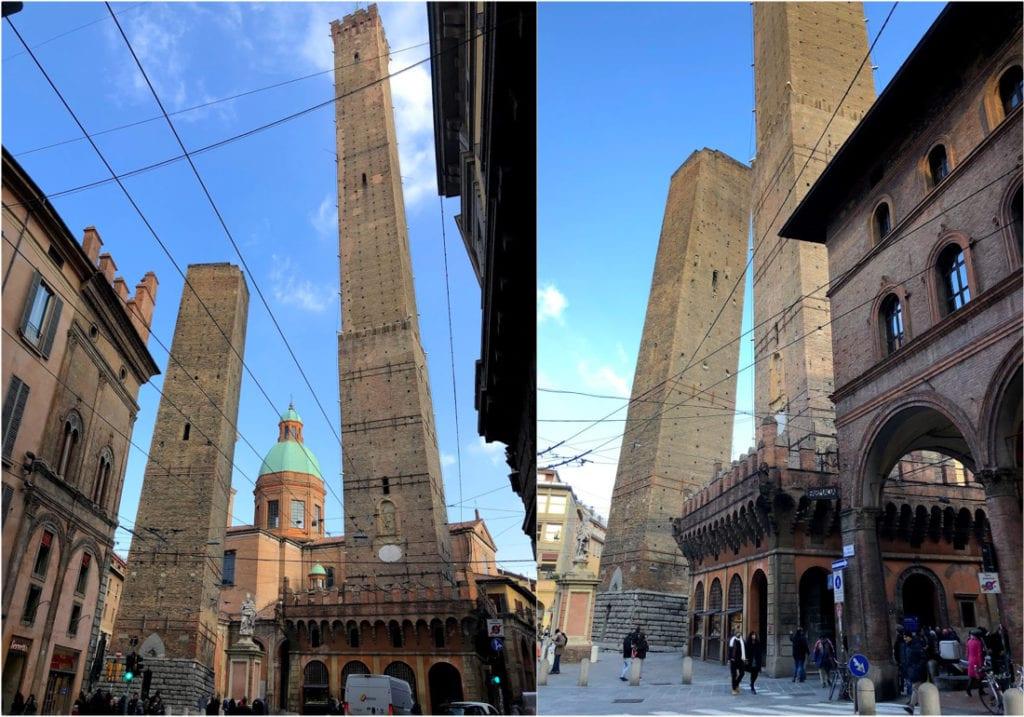 Duas torres de Bolonha, Itália
