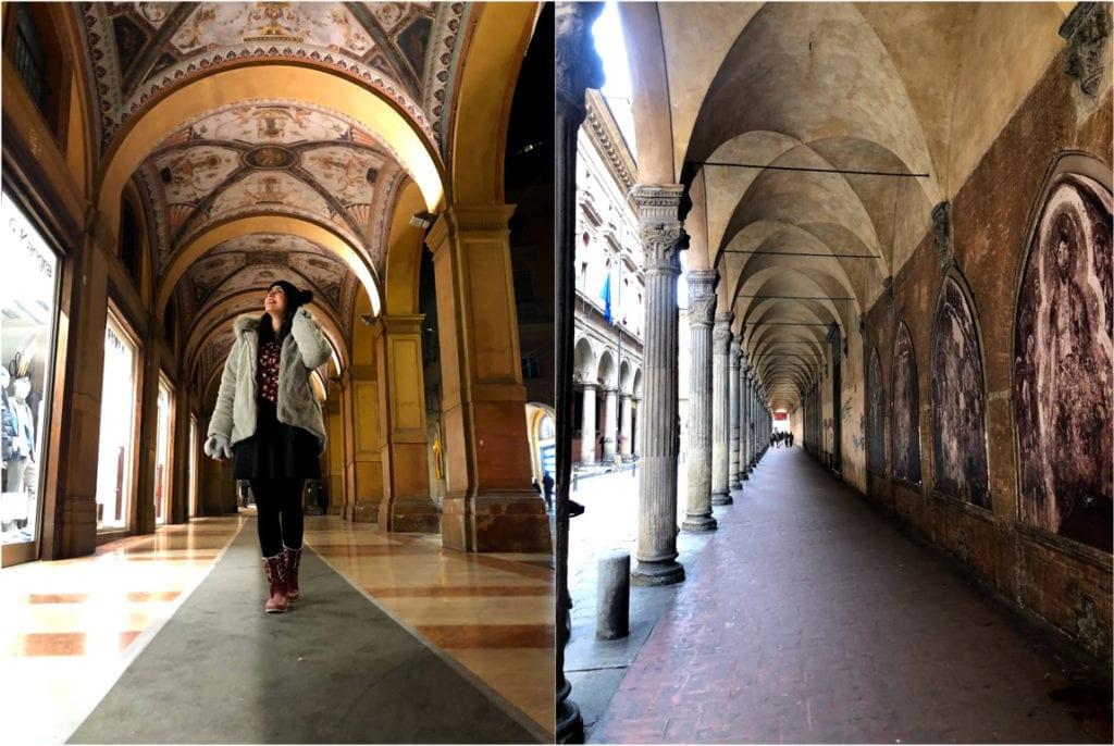 O que visitar em Bolonha: Pórticos