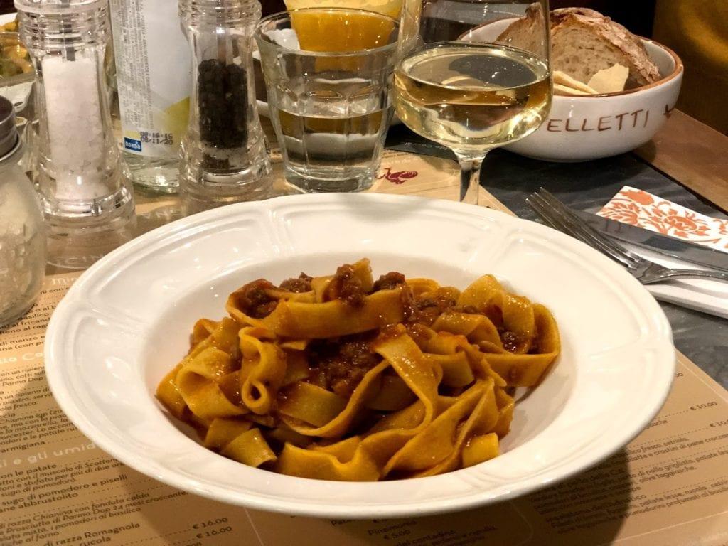 onde comer em Bolonha: Tagliatelle al ragu