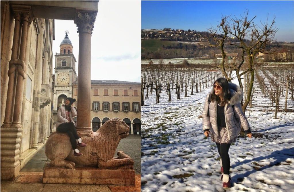 Mala para inverno na Itália