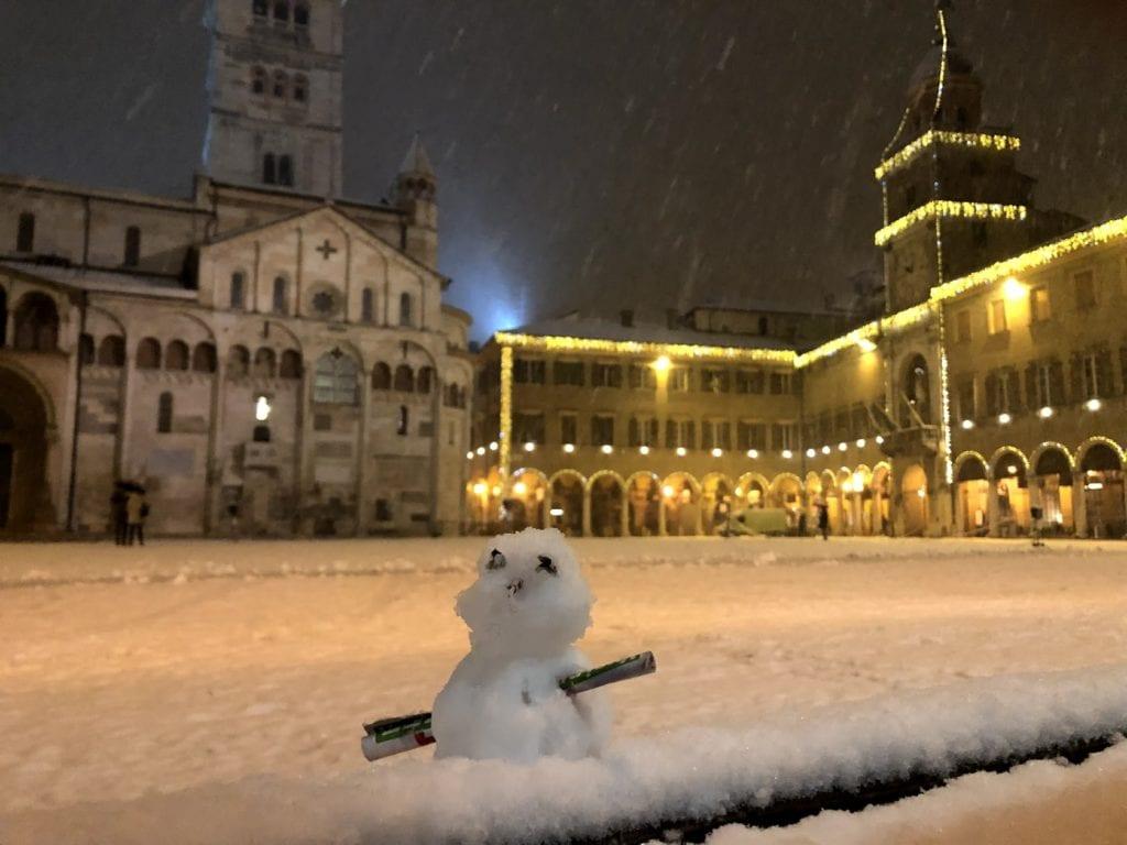 Modena com neve