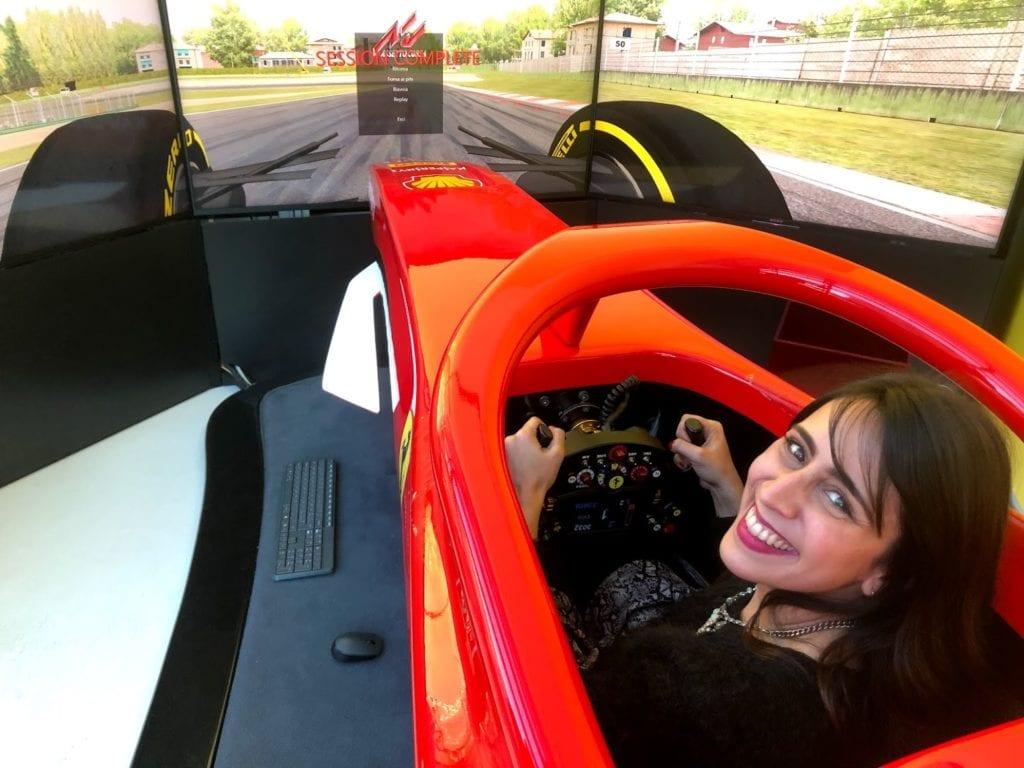 Simulador de Fórmula 1 Ferrari