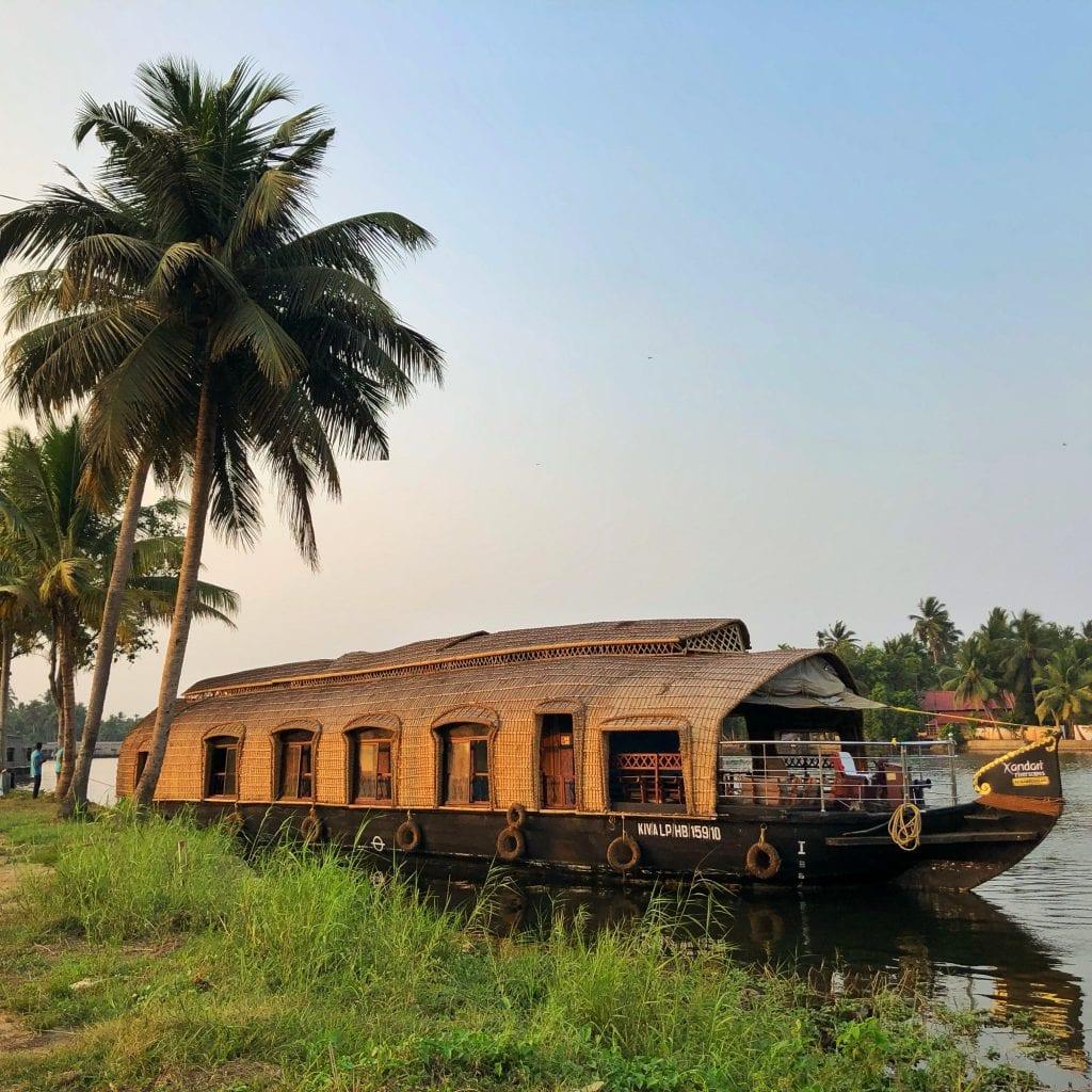 Houseboat em Kerala, Índia