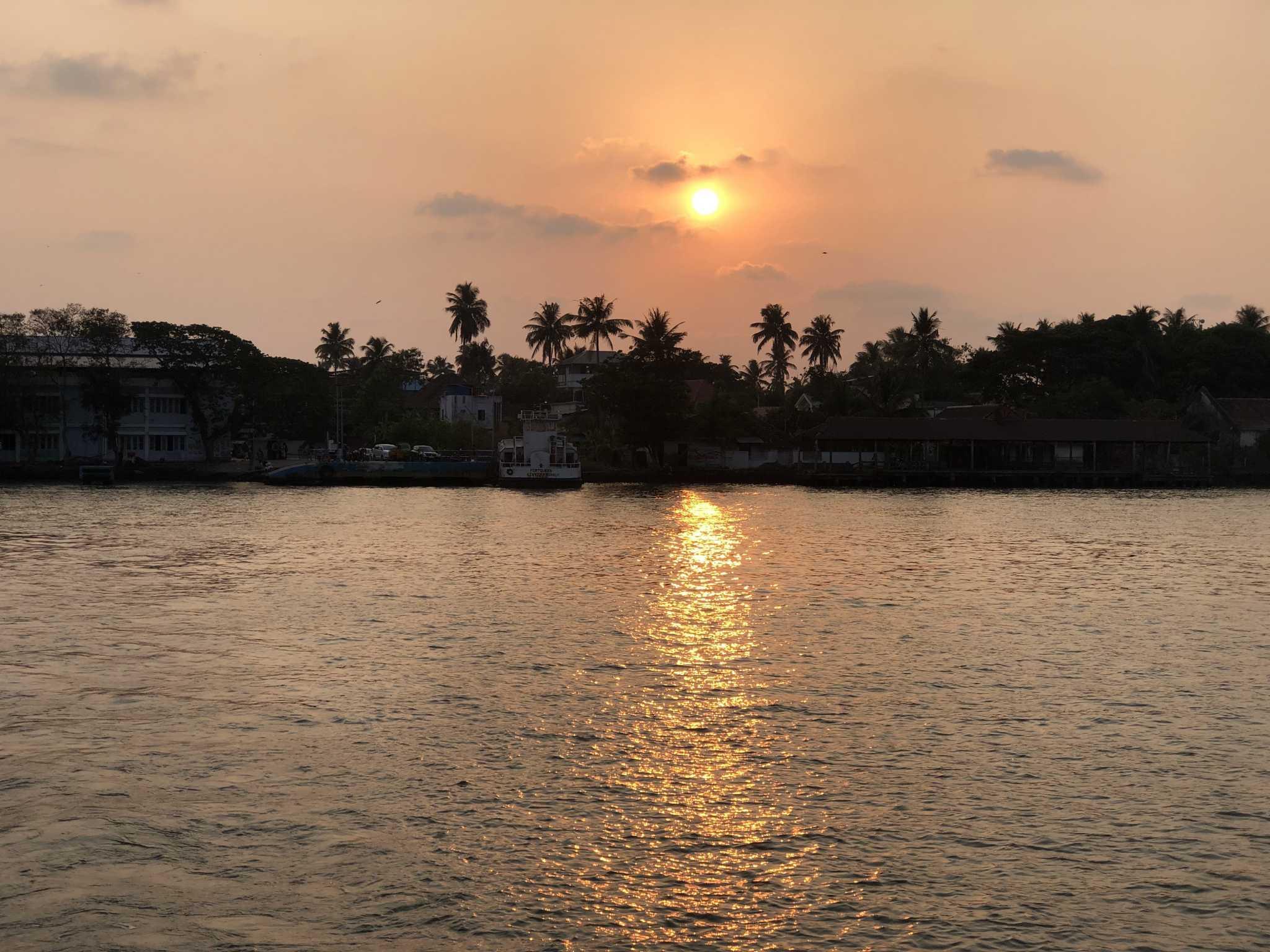 Sunset Kochi, Kerala, Índia
