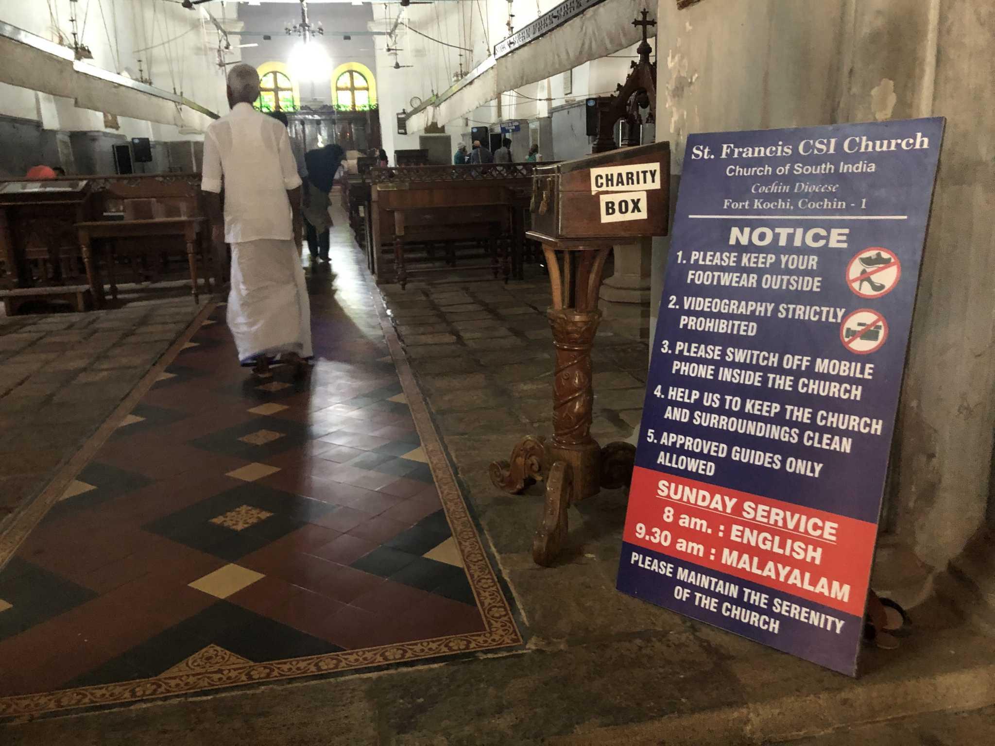 Igreja São Francisco, Kerala, Índia,