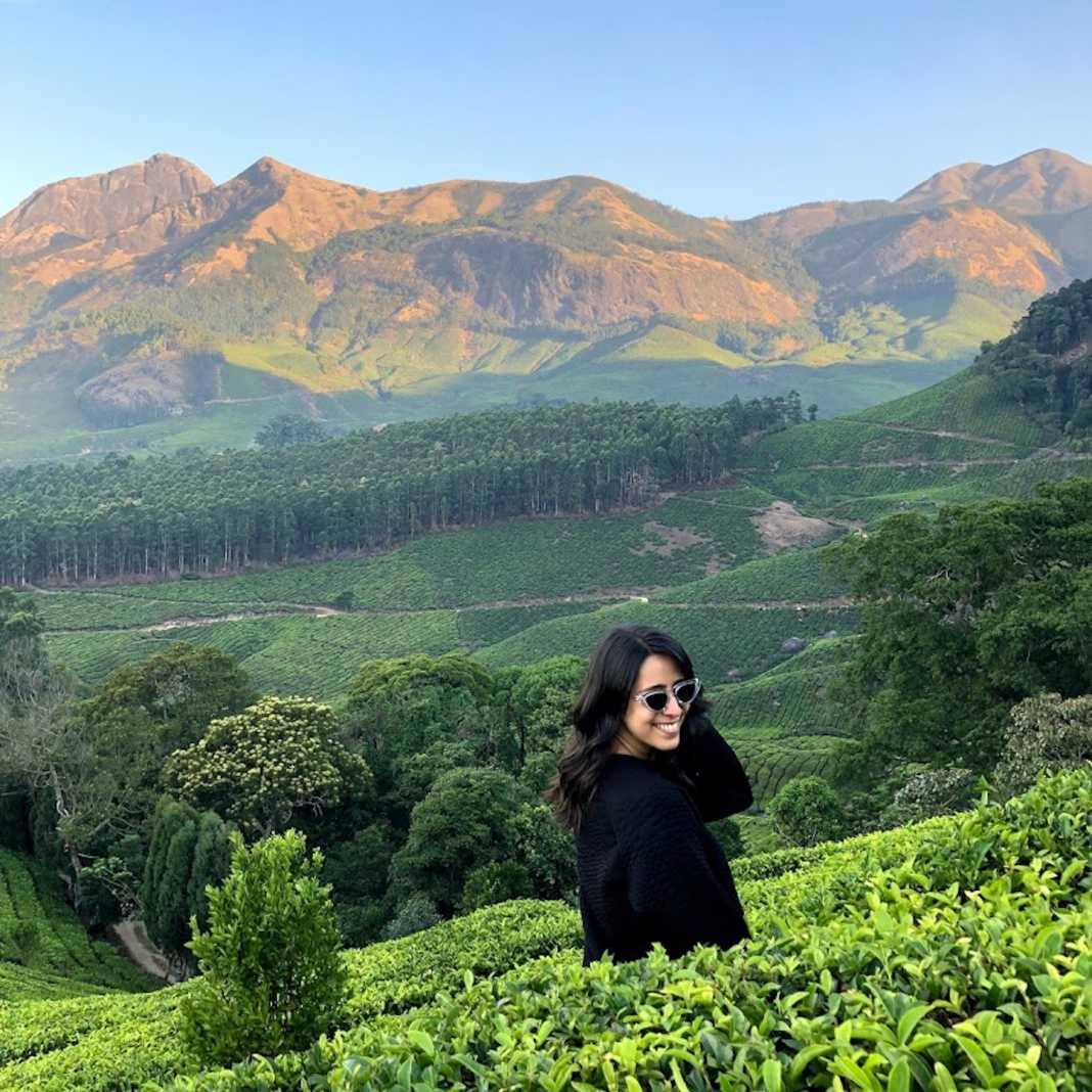 Camping na Índia, plantações de chá Munnar