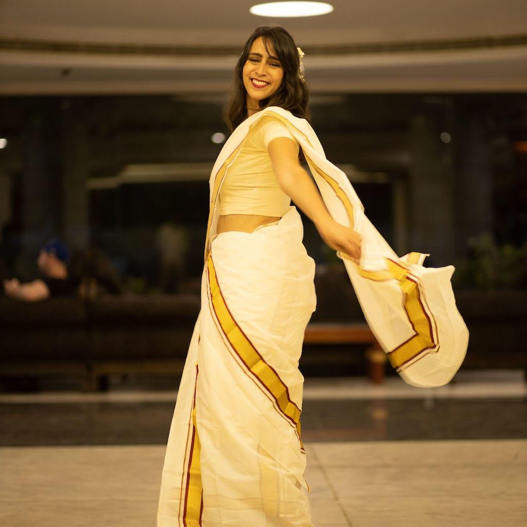 Compras na Índia: Sari de Kerala