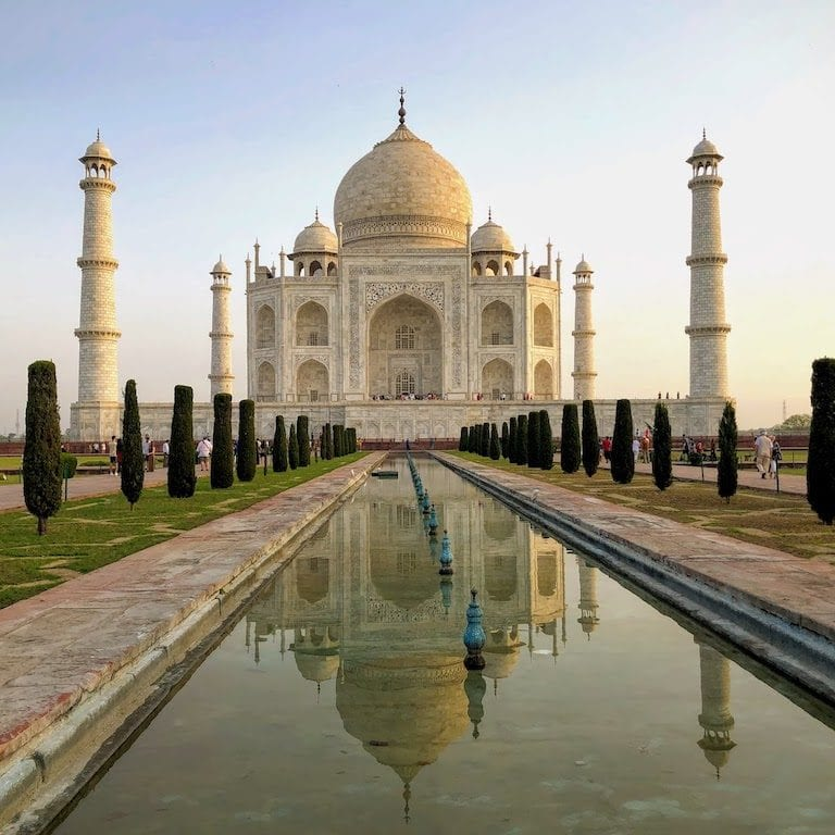 Visitando o Taj Mahal!