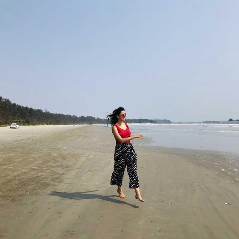 Praia na Índia!
