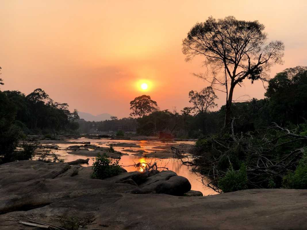 Sunset Athirappilly Waterfalls