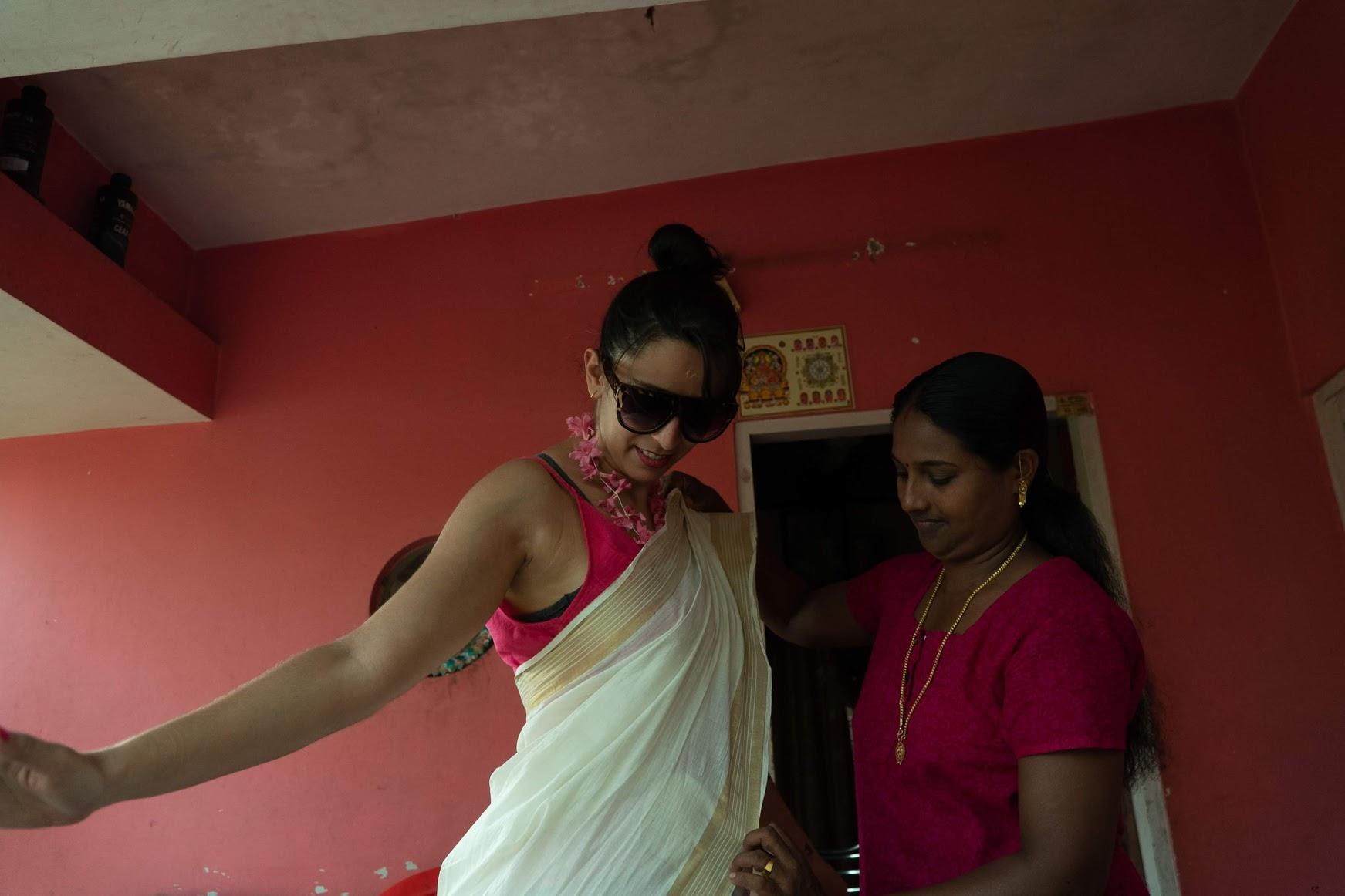 Como vestir sari índia