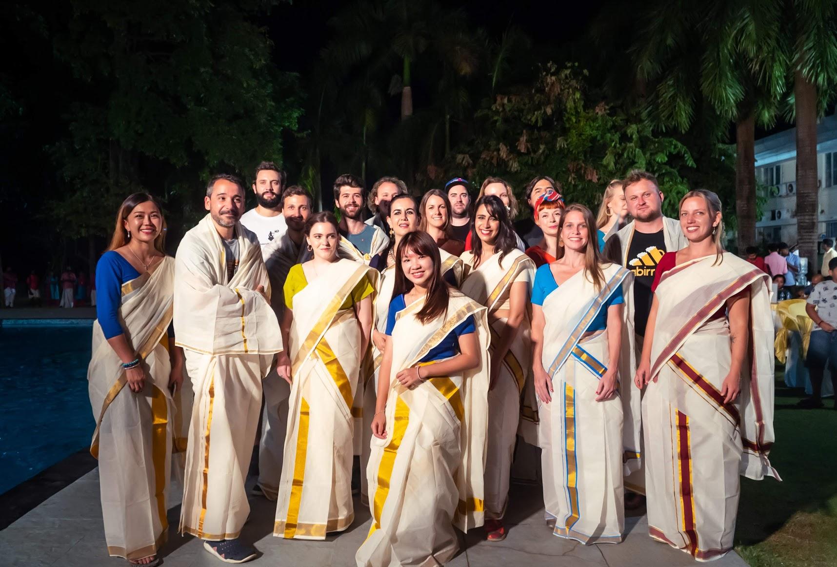 Como vestir um sari