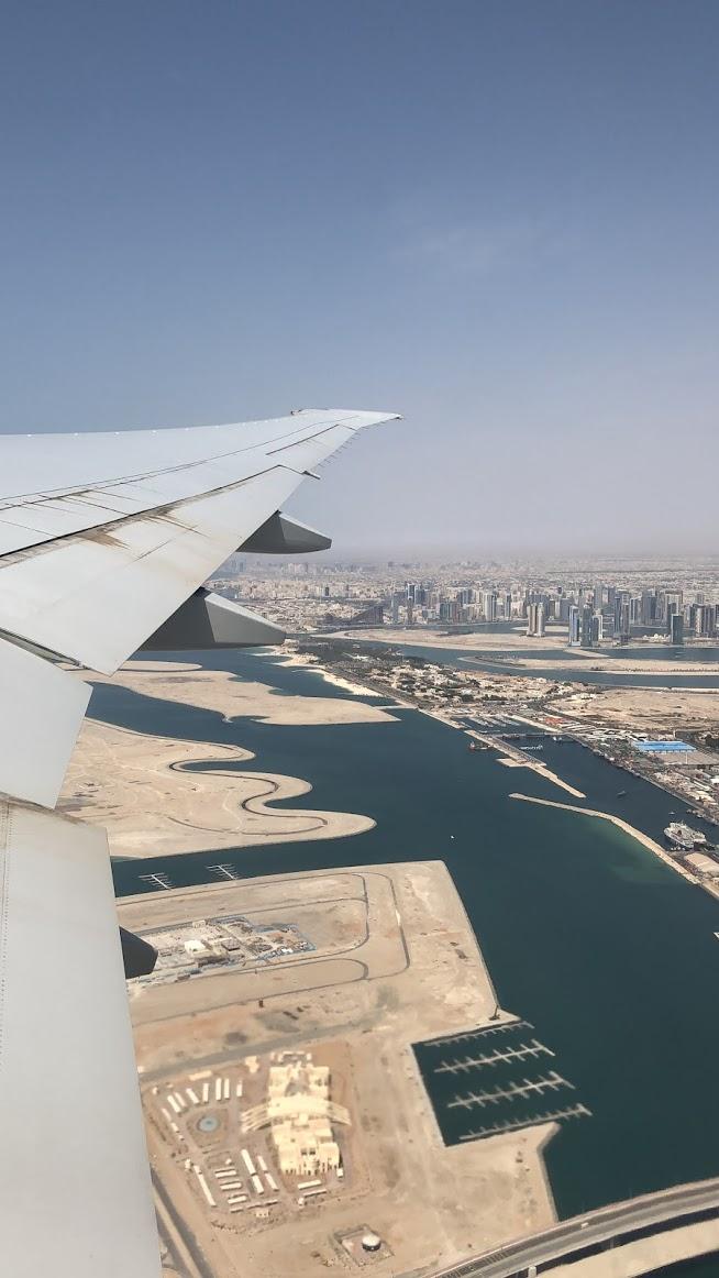Como é voar de Emirates para Dubai