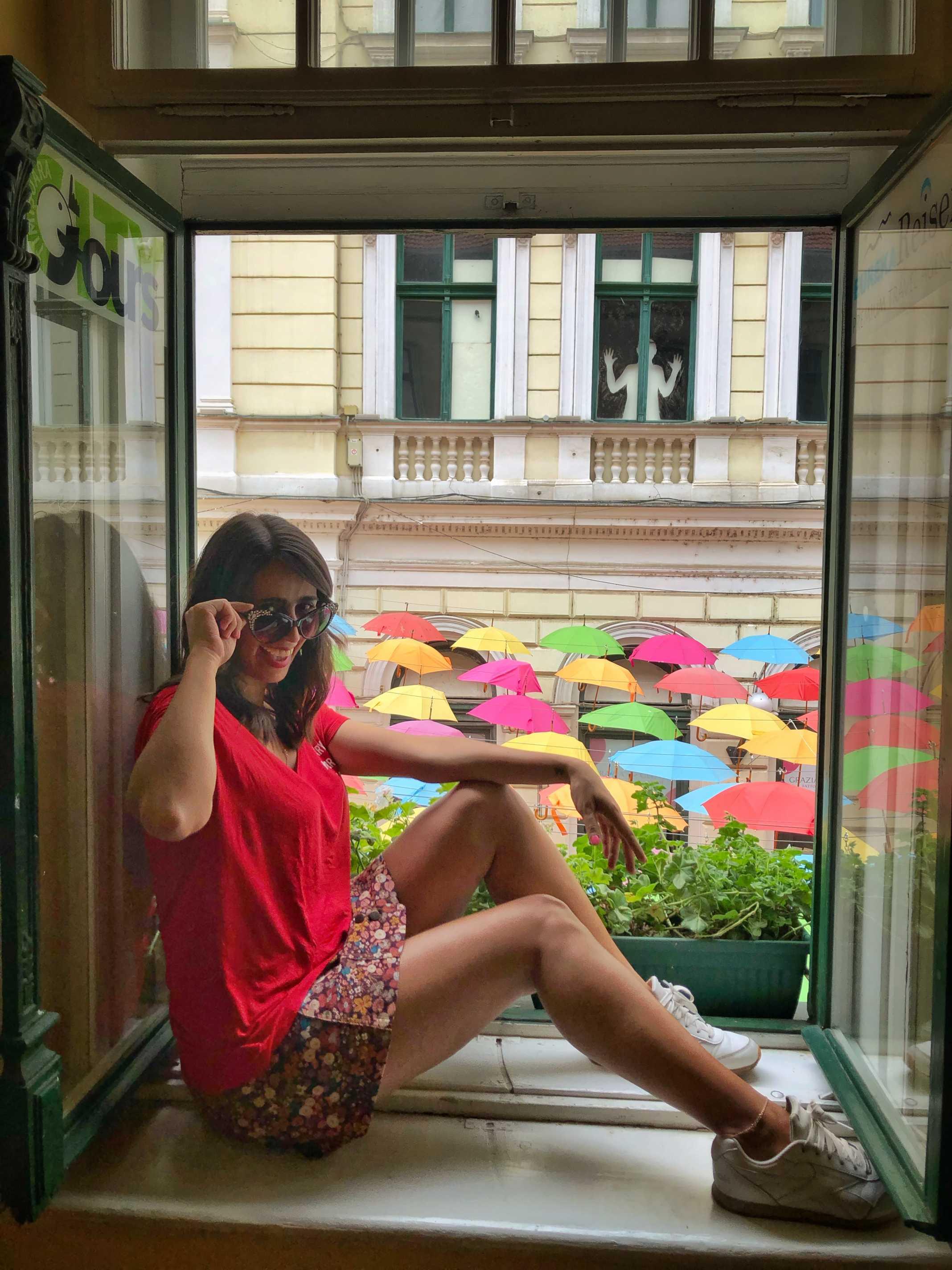 Guarda Chuvas coloridos Timisoara Romênia
