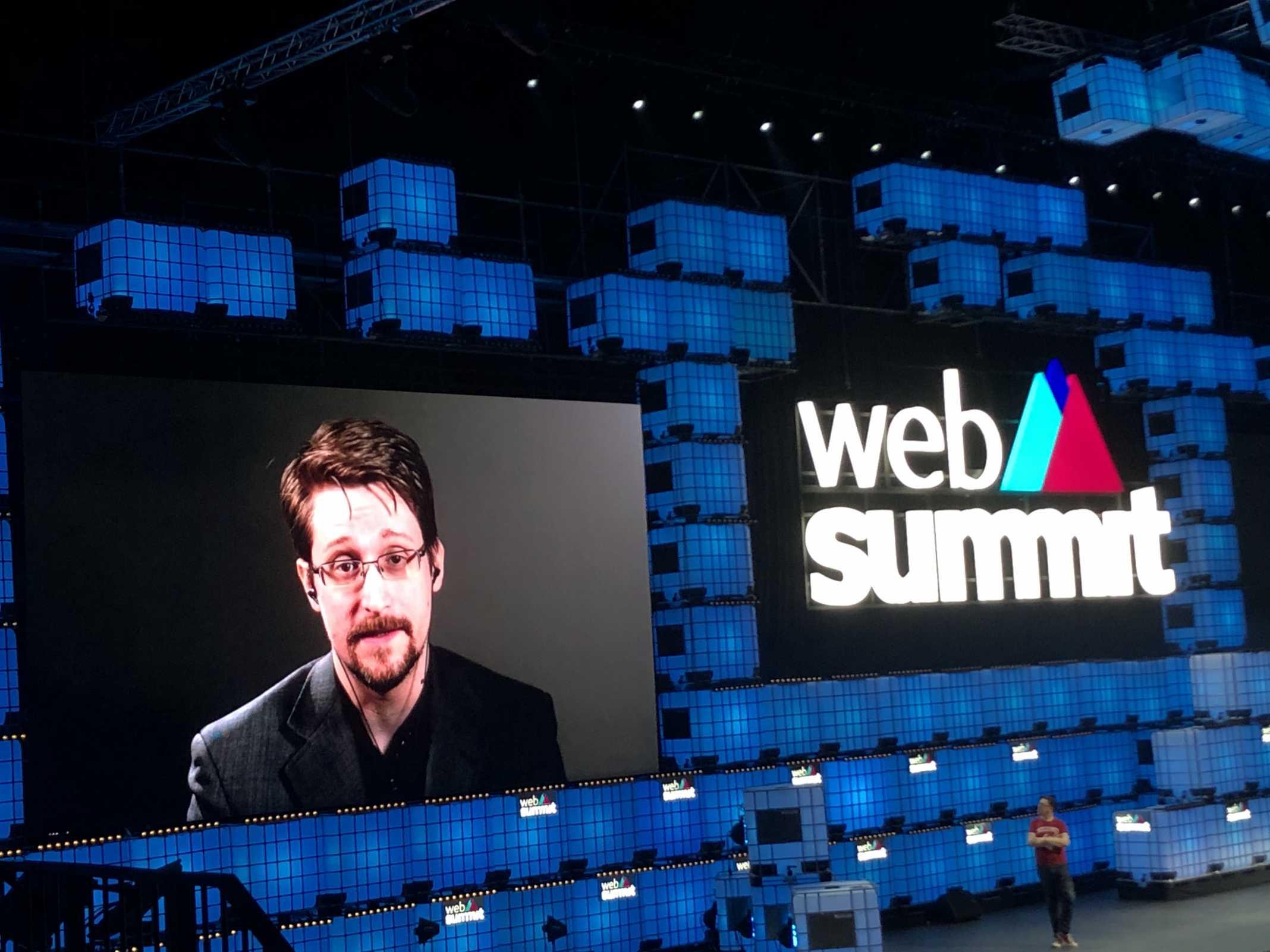 Edward Snowden no Web Summit